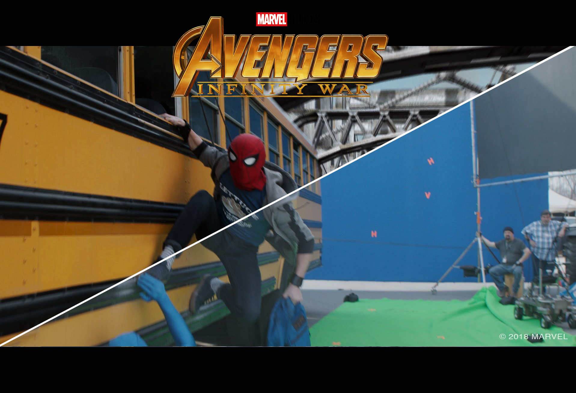 avengers: infinity war – making of parte 1